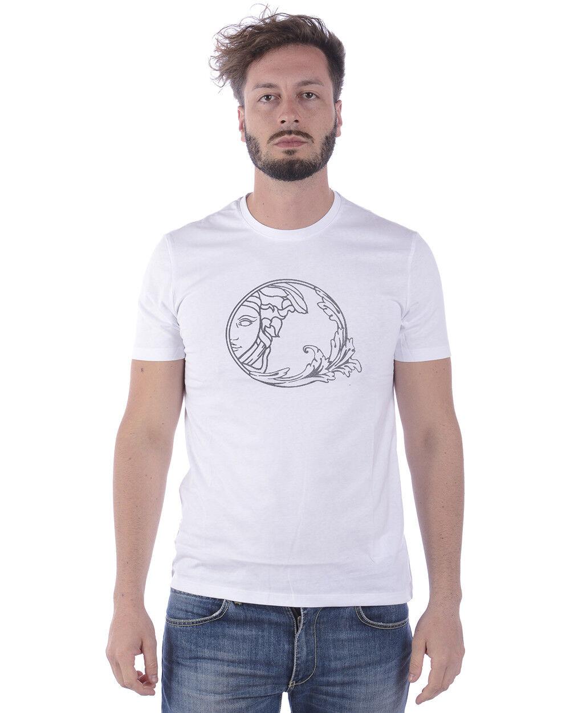 T shirt Versace Collection Sweatshirt Cotone Uomo Bianco V800683SVJ00277 V7001 V7001 V7001 361d72