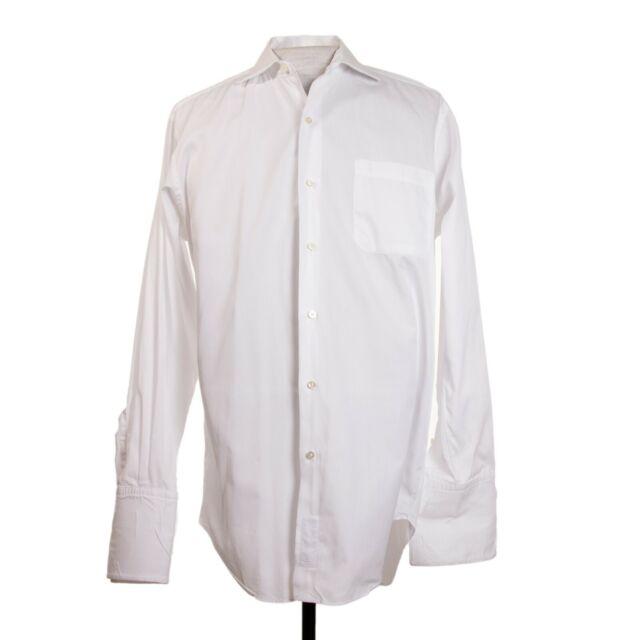 Robert Talbott Bespoke Mens 15.5 x 34.5 White French Cuff LS Dress Shirt