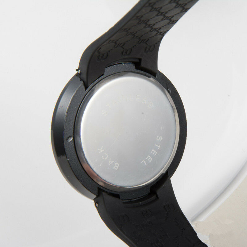 New Cool Waterproof Mens Watch LED Touch Screen Date Silicone Wrist Black Watch 5