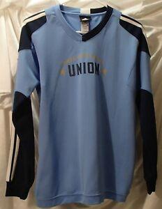 Philadelphia Union Blue Goalie Long Sleeve Mls Soccer Jersey Shirt Youth Kids L Ebay
