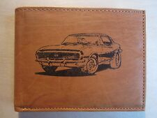 """Mankind Wallets-Men's Leather RFID Billfold-FREE """"1968 Chevy Camaro SS/RS"""" Image"""