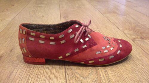 Irregular Choice Gold Medal Night Red UK 3.5 B Flat Low Heel Shoes EU 36