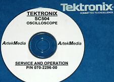 Tektronix Sc504 Oscilloscope Operating Amp Service Manual
