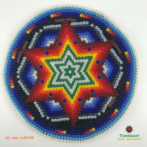Huichol Círculo de Chaquira Huichol Art Mexican Hand Beaded Crafts Tatehuari