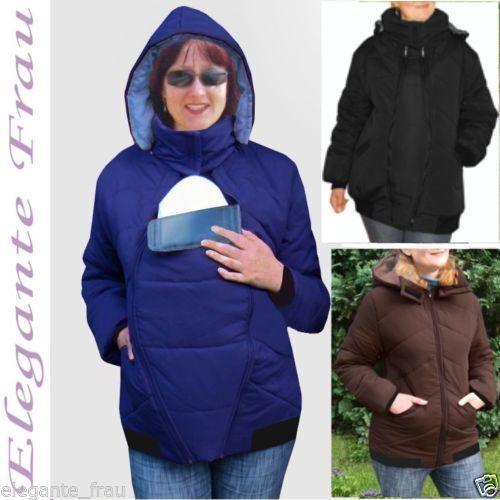 3 in1 Winterjacke Tragejacke Umstandsjacke Jacke Winter für Tragetuch Bauchtrage