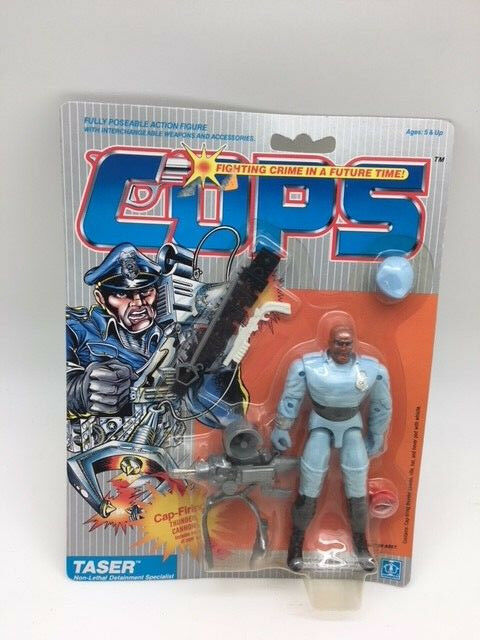 VINTAGE 1988 HASBRO COPS Actionfigur Taser  OVP RARITÄT