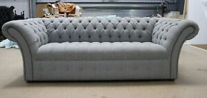 MODERN-HANDMADE-HALIFAX-GREY-FABRIC-CHESTERFIELD-TUFTED-BUTTONED-3-SEATER-SOFA