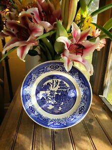 Royal-China-Blue-amp-White-Willow-Ware-Dinner-Plate-10-034