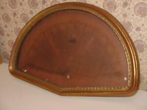 Vintage-Wood-Fan-Frame-Shadow-Box-Gold-Ornate-Empty-21-1-2-034-Wide-14-034-Tall-NICE