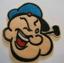 """Popeye the Sailor~Embroidered Patch~3 5//8/"""" x 3 1//2/""""~Cartoon~Iron or Sew On"""