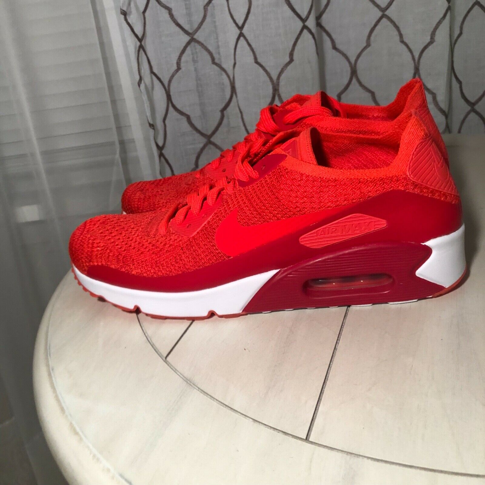 big sale 5e997 d3873 NIKE Air Max 90 Ultra 2.0 Flyknit Mens Size 10.5 red nwob