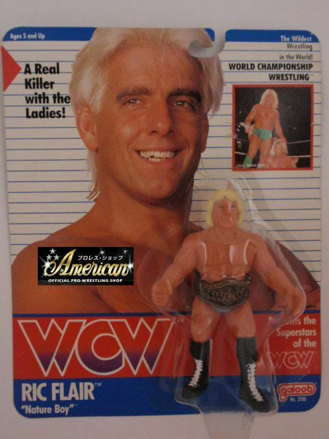 WCW PRO_WRESTLING FIGURES Nature Boy Ric Flare 91 Wine rosso tights version o=38
