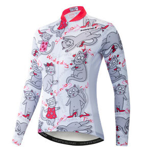 8f03c81ec Women s Cycling Jersey Breathable Tight Bike Clothing Bicycle Long ...
