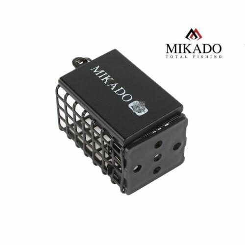 """/""""MIKADO/"""" eckiger schwarzer Futterkorb 25x30x44mm 10g bis 80g Feeder With Bottom"""