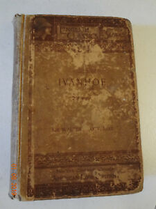 IVANHOE-Antique-Book-by-Sir-Walter-Scott-English-Classic-Romance