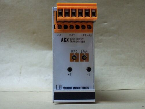 MOORE INDUSTRIES ACX//0-120VAC//4-20MA//12-42VDC-FA-RTB DIN TRANSMITTER NEW 986WH