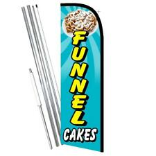 Funnel Cakes Premium Windless Style Feather Flag Bundle 14 Or Replacement Flag
