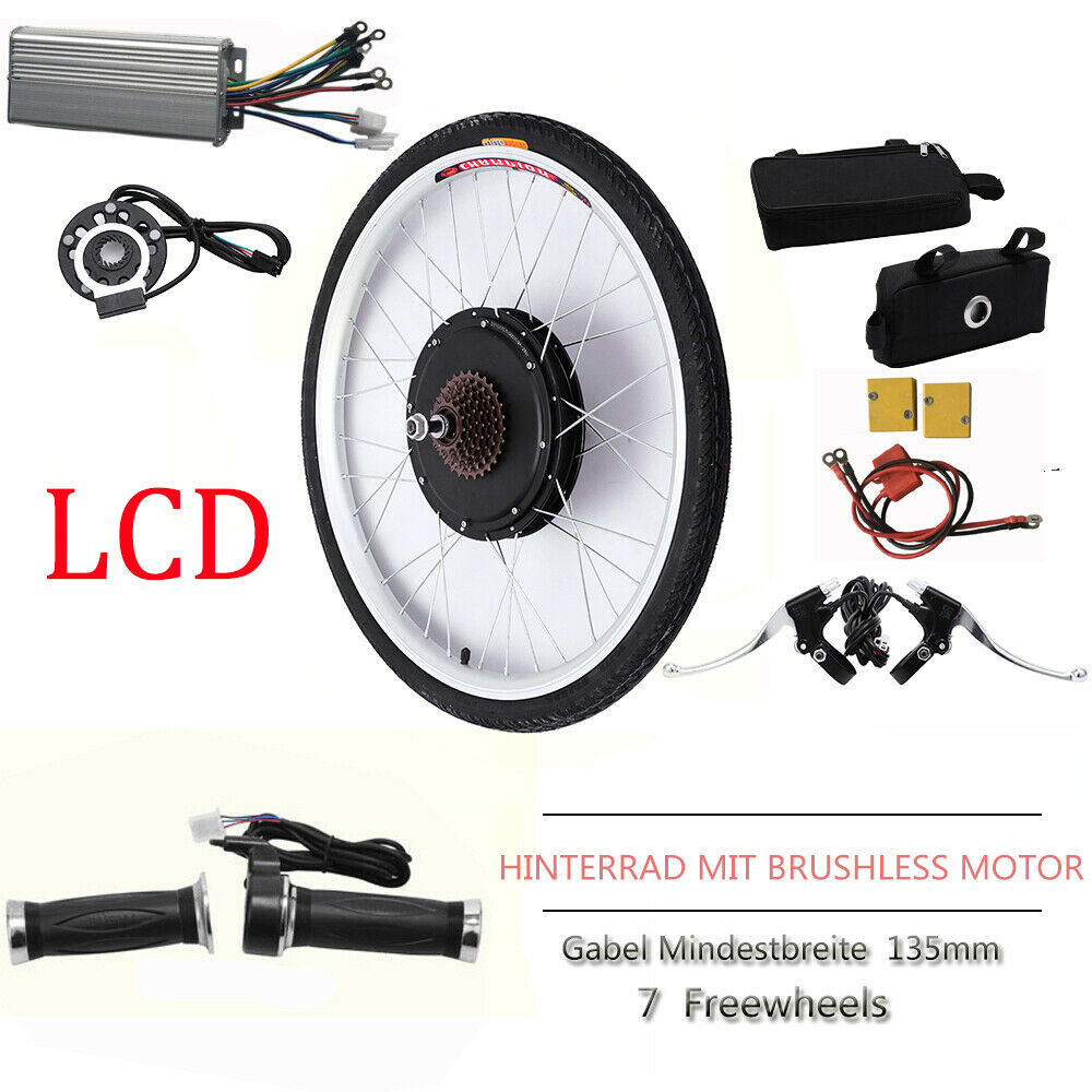 1000W 48V LCD Electric bicicletta Motor Rear rueda Conversion Kit Ebicicletta ciclismo Hub
