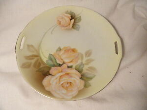 RS-Prussia-Porcelain-Rose-Cabinet-Plate-Blue-Mark-Mint
