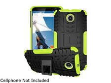 rooCASE Green Heavy Duty Armor Hybrid Rugged Stand Case for Google Nexus 6 RCNX6