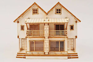 Image Is Loading 3d Duplex Wooden House Model Kit Ho Scale