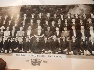GIRLS-PORTRAIT-PANORAMA-The-Royal-School-Haslemere-NAVY-1949-ORIG-PHOTO-BIG