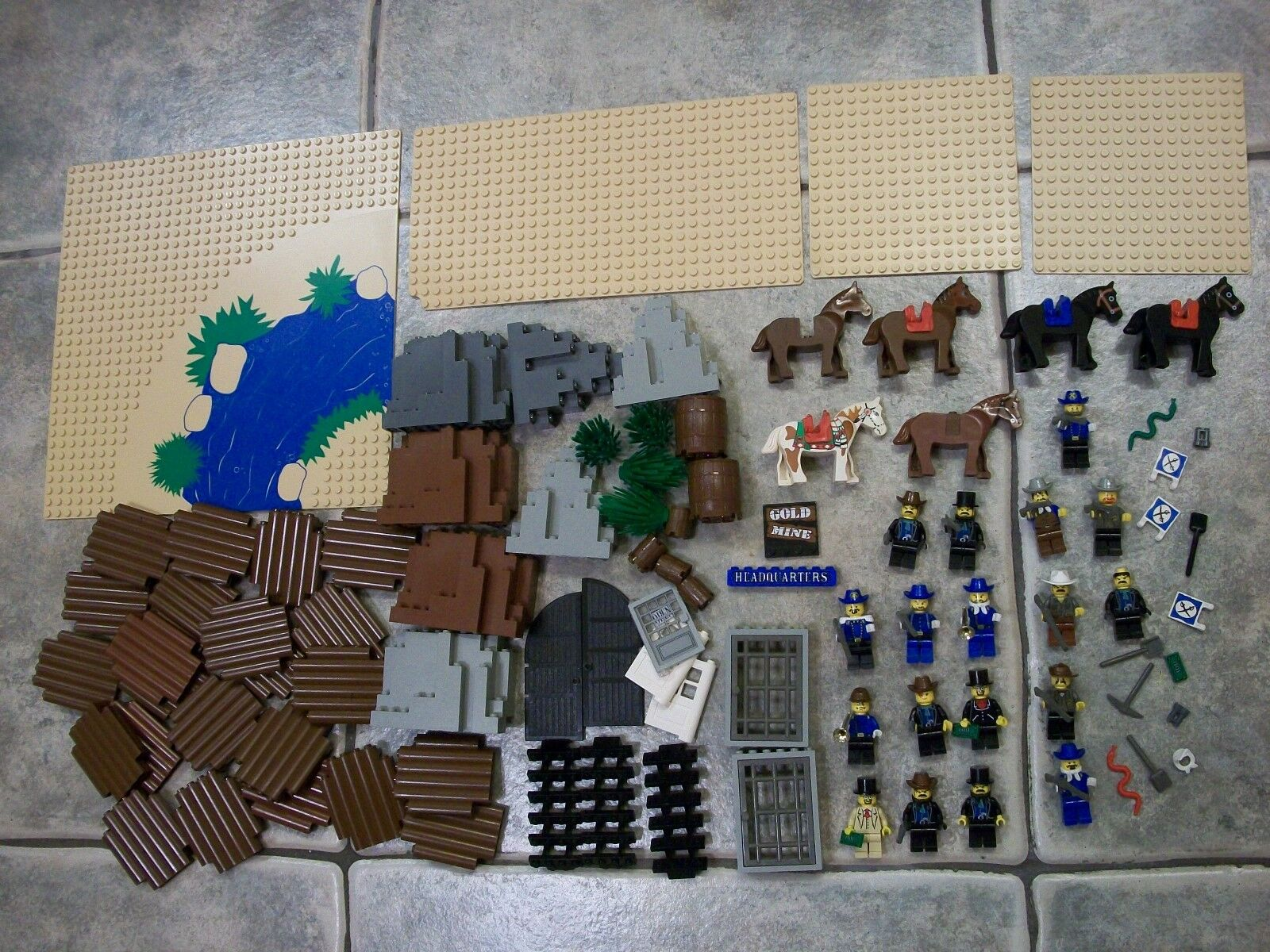 LEGO wild west mini figure piece LOT from 6769 6765 6764 6761 cavalry soldier s