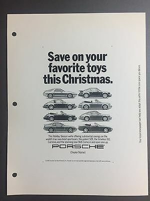 1991 // 1992 Porsche Full Line Advertising Slick Ad Slick Print Poster RARE!!
