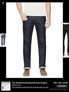 7-For-All-Of-Mankind-Blue-Jeans-Classic-Straight-Leg-Size-28