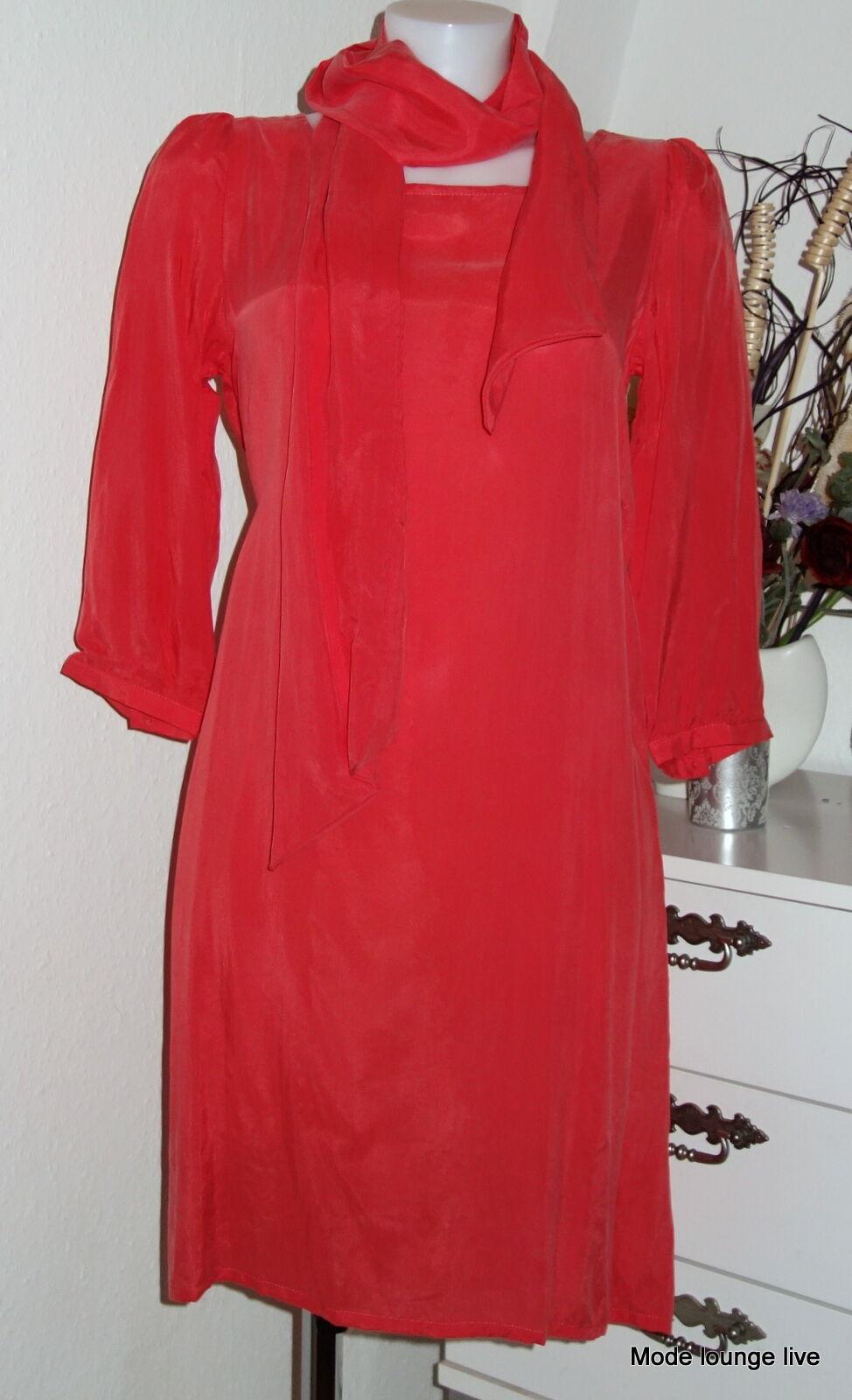 Ester Elenora Dress Lena New Long Coral Hummer Silk Cupro Red M L XL