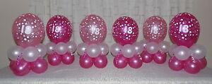 18th 60th Birthday Balloon Decoration Display For 6