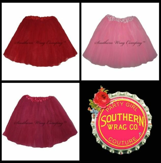 VALENTINES DAY WOMENS TUTU ADULT TUTU WAIST 18-36 LENGTH 16