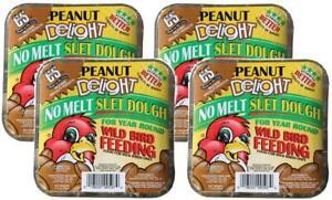 4-Pack-C-amp-S-Products-Peanut-Delight-No-Melt-Suet-Dough-For-Wild-Birds