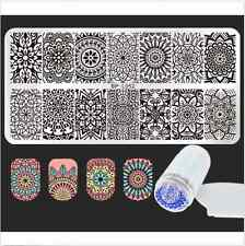 Born Pretty Mandala Nail Art Stamping Plate Stamp Template Stamper W/Scraper Set