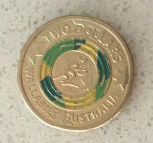 $2.00 DOLLAR COIN... AUSTRALIAN 2019 WALLABIES ...WORLD CUP.