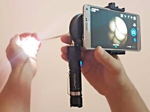 ClaraMed-mobile-smartphone-endoscope-adapter-with-Smart-LED-light-source-S1