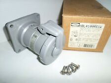 New In Box Hubbell Hbl4100rs1w 100 Amp Receptacle 100a 600v 3p4w Insulgrip