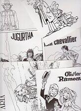 Ensemble de 6 tirages en n/bl 20,5 x 13,5 : Clifton, Comanche, Jugurtha, Aria