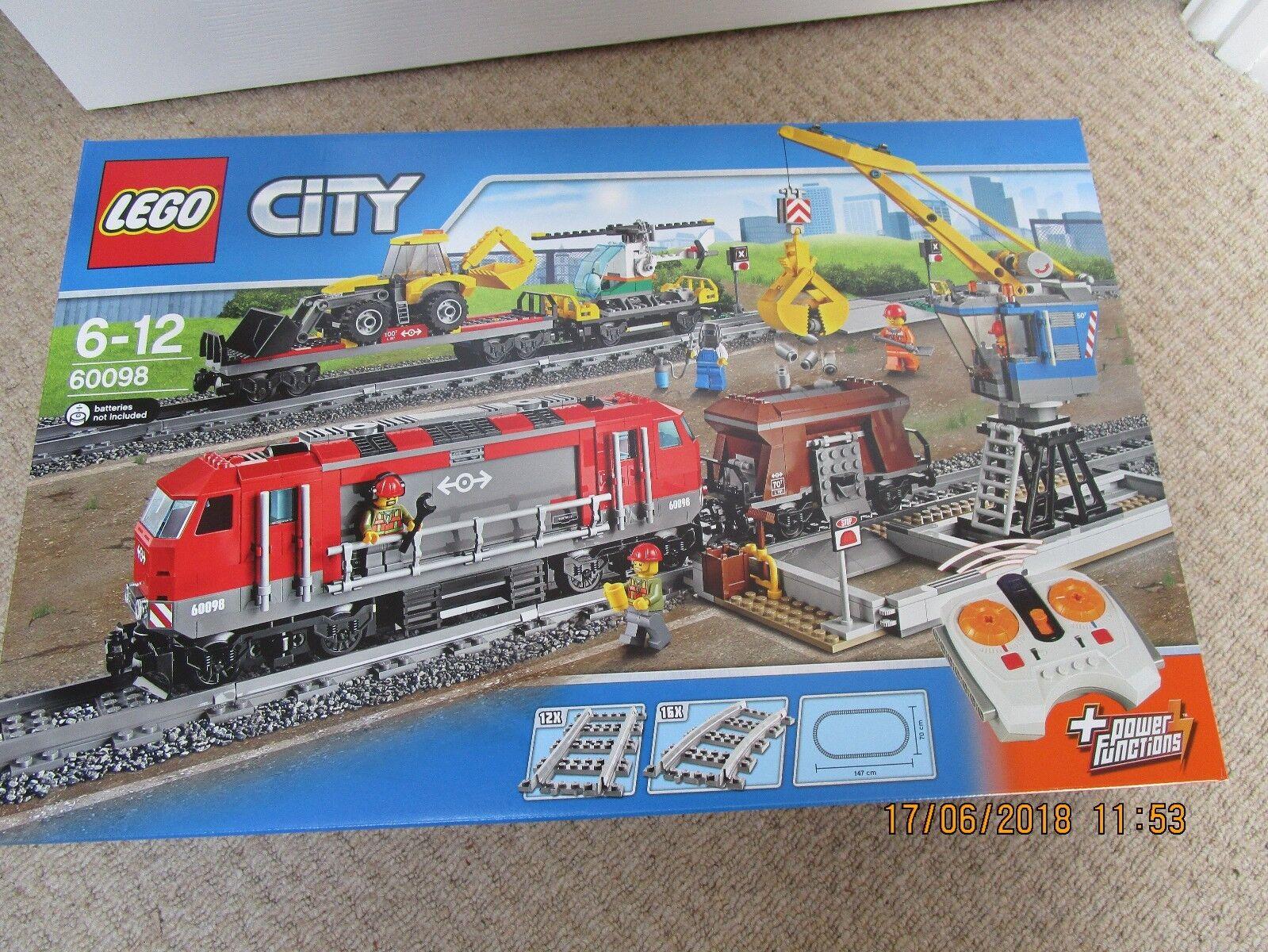LEGO City - 60098-Heavy Haul Treno - & Nuovo Di Zecca Sigillato in Fabbrica-In Pensione
