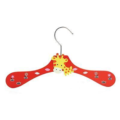 1 Baby Appendiabito In Legno Per Bambini Vestiti Animale Giraffa Appendiabiti Rosso-