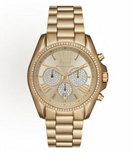 74895a565df NEW MICHAEL KORS MK6538 GOLD BRADSHAW PAVE WATCH - 2 YEARS WARRANTY ...