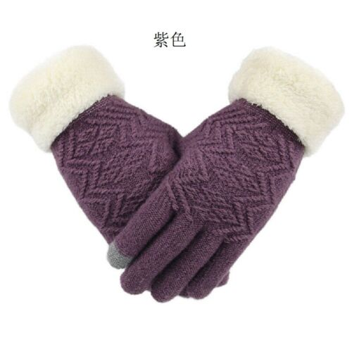 NEW Women Touch Screen Winter Warm Gloves Fleece Lined Thermal Gloves Mitten