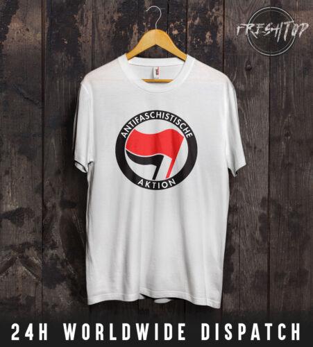 ANTIFA Logo Symbol T Shirt Socialist Anti Fascism Nazi Germany EU European Union