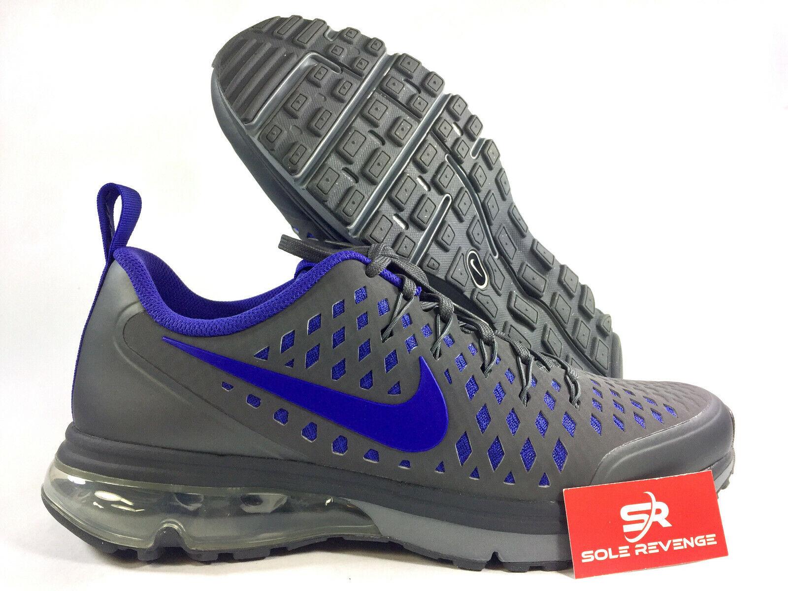 10.5 New NIKE AIR MAX SUPREME 3 Dark Grey purple Purple shoes 706993-040 x1
