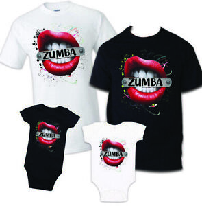 Details about Zumba T-Shirt Dance Fitness Workout Music shirt Exercise Gym  aerobic matching