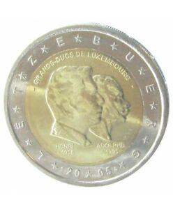 Pièce 2 Euros Commémo. LUXEMBOURG 2005 - Grands-Ducs Henri et Adolphe Neuve UNC