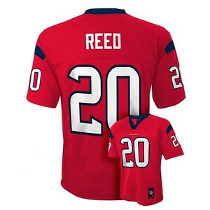 hot sales 9acba b9380 Details about ($55) Houston Texans ED REED nfl Jersey YOUTH KIDS BOYS  CHILDRENS (L-LARGE)