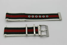 Gucci 23mm Genuine Replacement Nylon Strap Men's G-Timeless YA126231  Watch