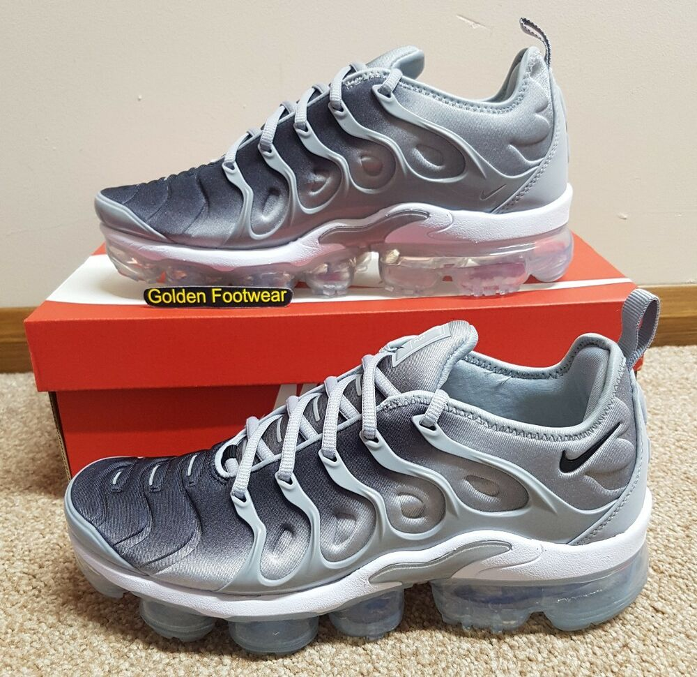 Nike Air Vapormax Plus Cool Gris Taille 7 UK Genuine Authentic Baskets Homme-