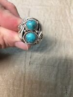 Navajo Mens Turquoise L. Spencer Ring Size 12 Native American 3